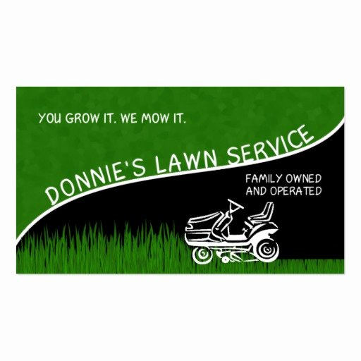 Landscape Business Card Template Inspirational Donnie S Lawn Service Double Sided Standard Business Cards