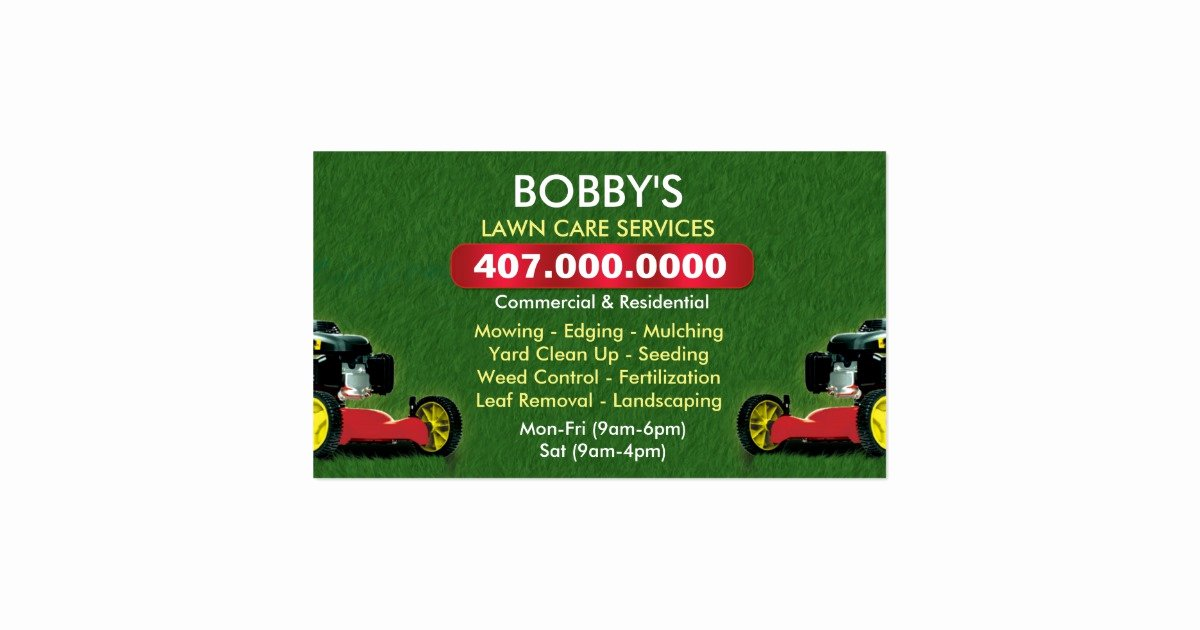 Landscape Business Card Template Inspirational Landscaping Lawn Care Mower Business Card Template