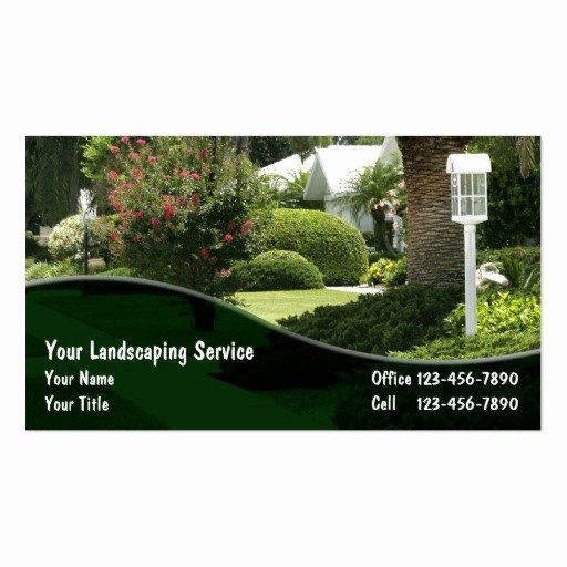 Landscape Business Card Template Inspirational Lawn Care Business Card Templates