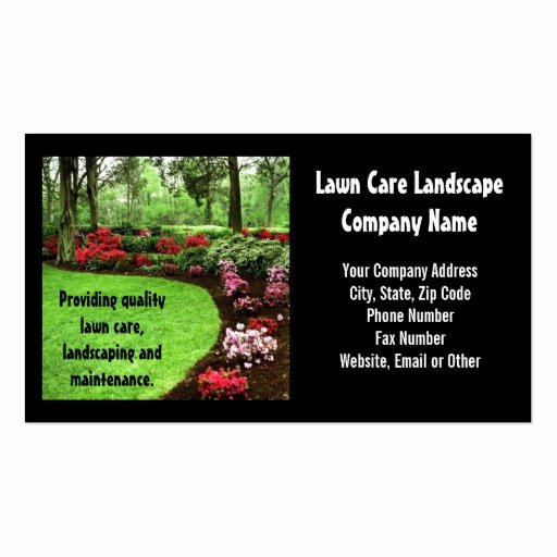 Landscape Business Card Template Inspirational Plush Green Landscape Lawn Care Business Double Sided