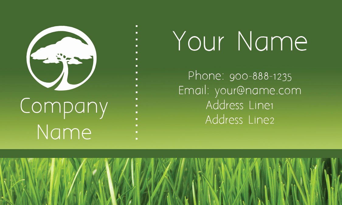 Landscape Business Card Template Inspirational Tree Care Green Business Card Design