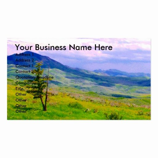 Landscape Business Card Template Lovely Mountain Landscape Business Card Templates