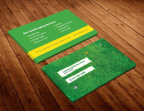 Landscape Business Card Template Luxury 10 Best Landscaping Business Card Templates Pages Ai