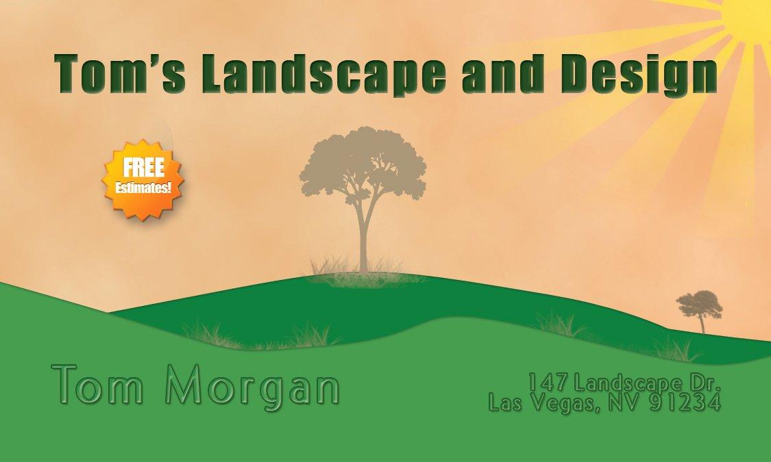 Landscape Business Card Template Luxury Construction and Landscaping Business Card Template – Free