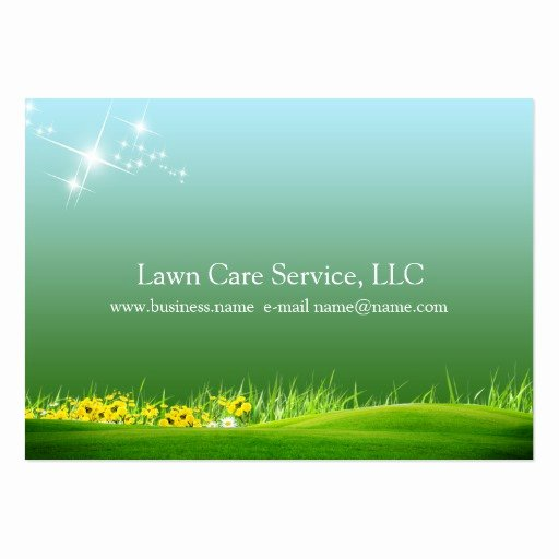 Landscape Business Card Template New Lawn Care Business Large Business Cards Pack Of 100