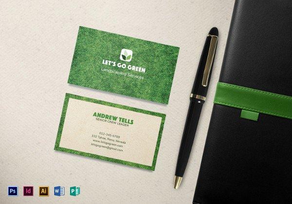 Landscape Business Card Template Unique 10 Best Landscaping Business Card Templates Pages Ai