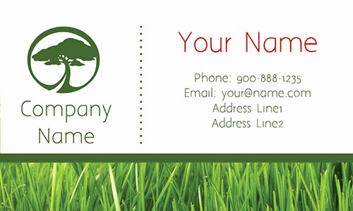 Landscape Business Card Template Unique Tree Care Green Business Card Design