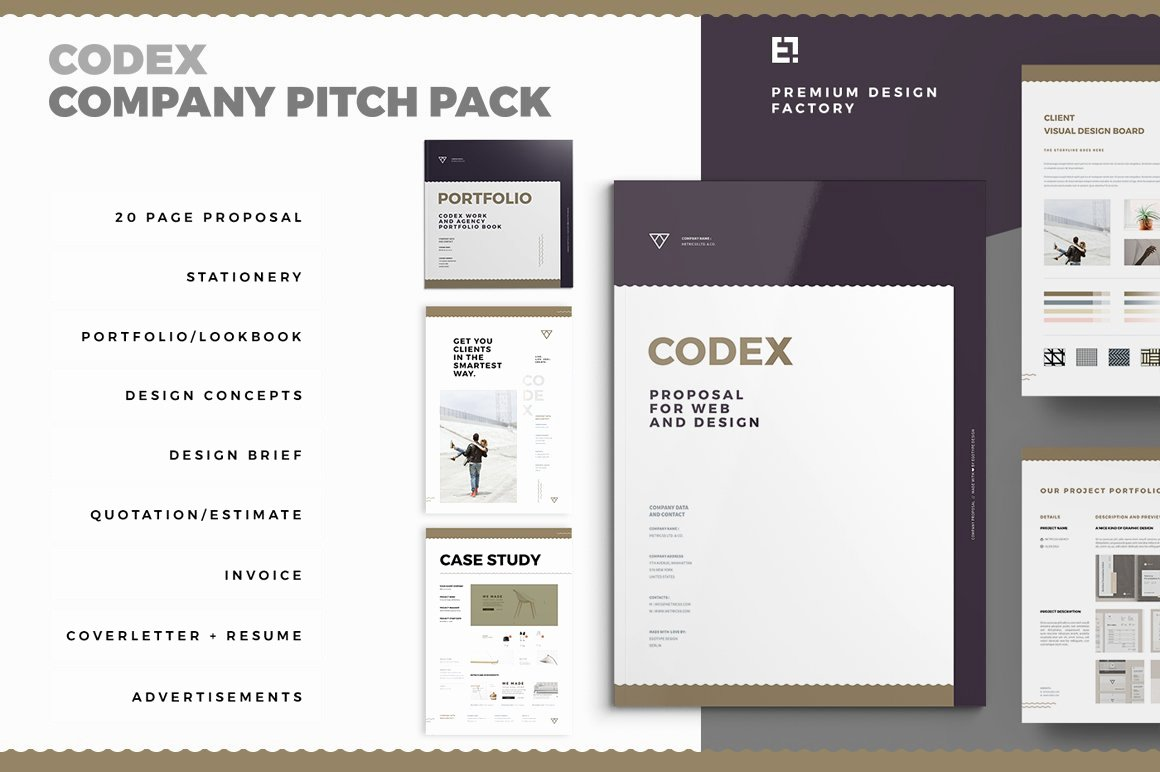 Landscape Design Proposal Template Awesome Codex Proposal Pitch Pack Brochure Templates Creative
