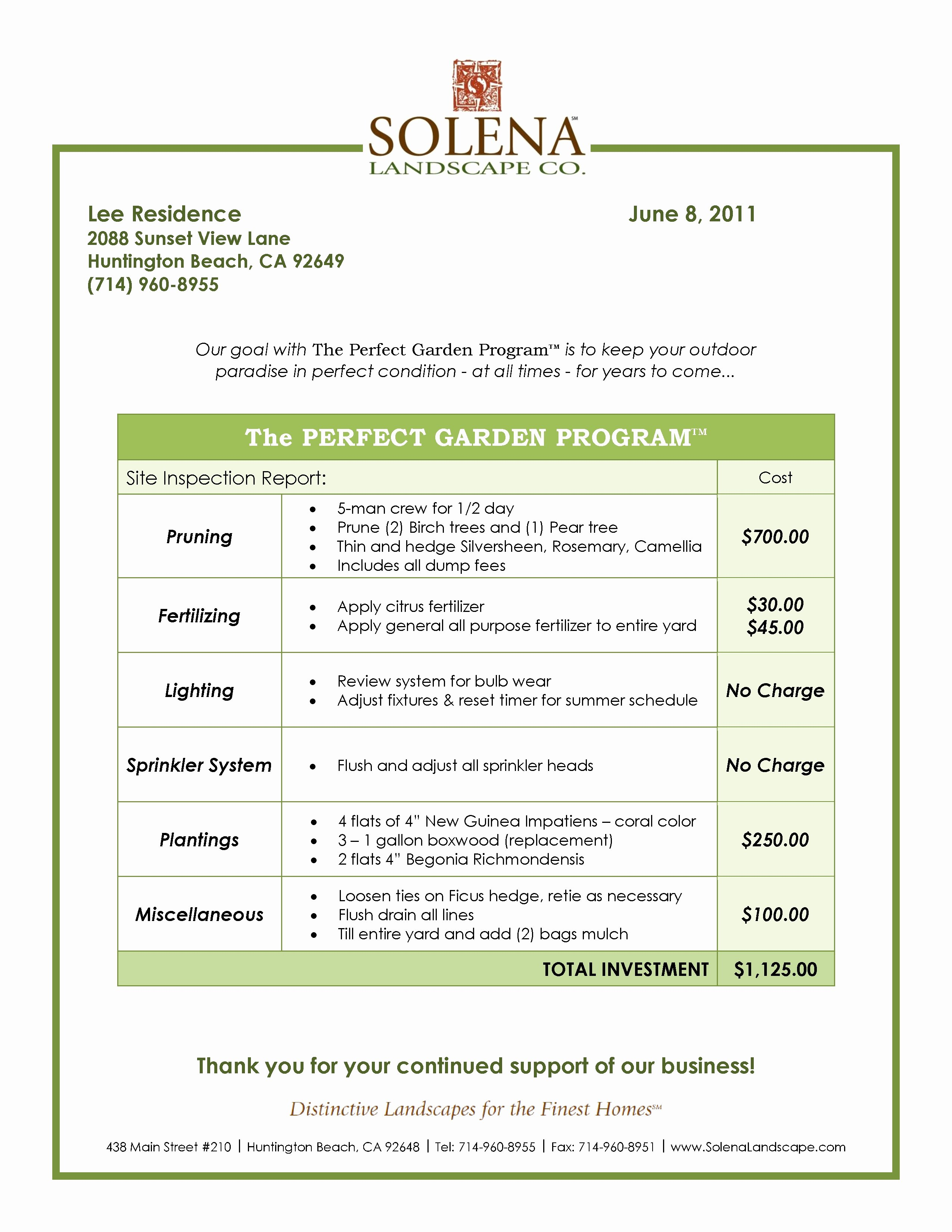 Landscape Design Proposal Template Lovely Grounds Maintenance Proposal Template