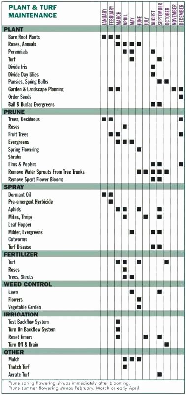 Landscape Maintenance Schedule Template Best Of Landscape Maintenance Schedule Lawn Mower Template