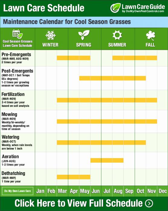 Landscape Maintenance Schedule Template Inspirational Lawn Care Calendar Schedule & Diy Tips