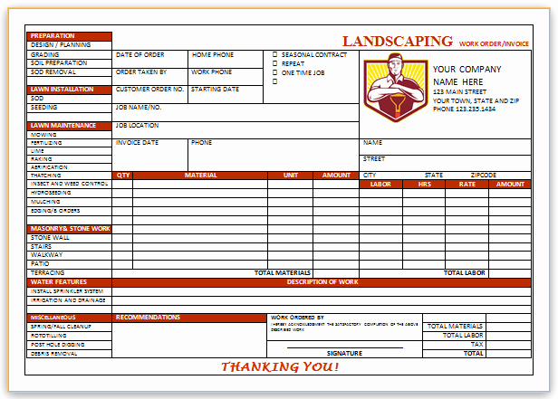 Landscaping Invoice Template Free New 10 Free Landscaping Invoice Templates [professional