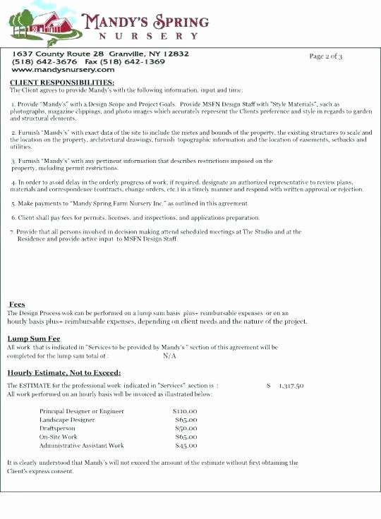 Landscaping Scope Of Work Template Fresh Letter Simple Landscaping Scope Work Template Best