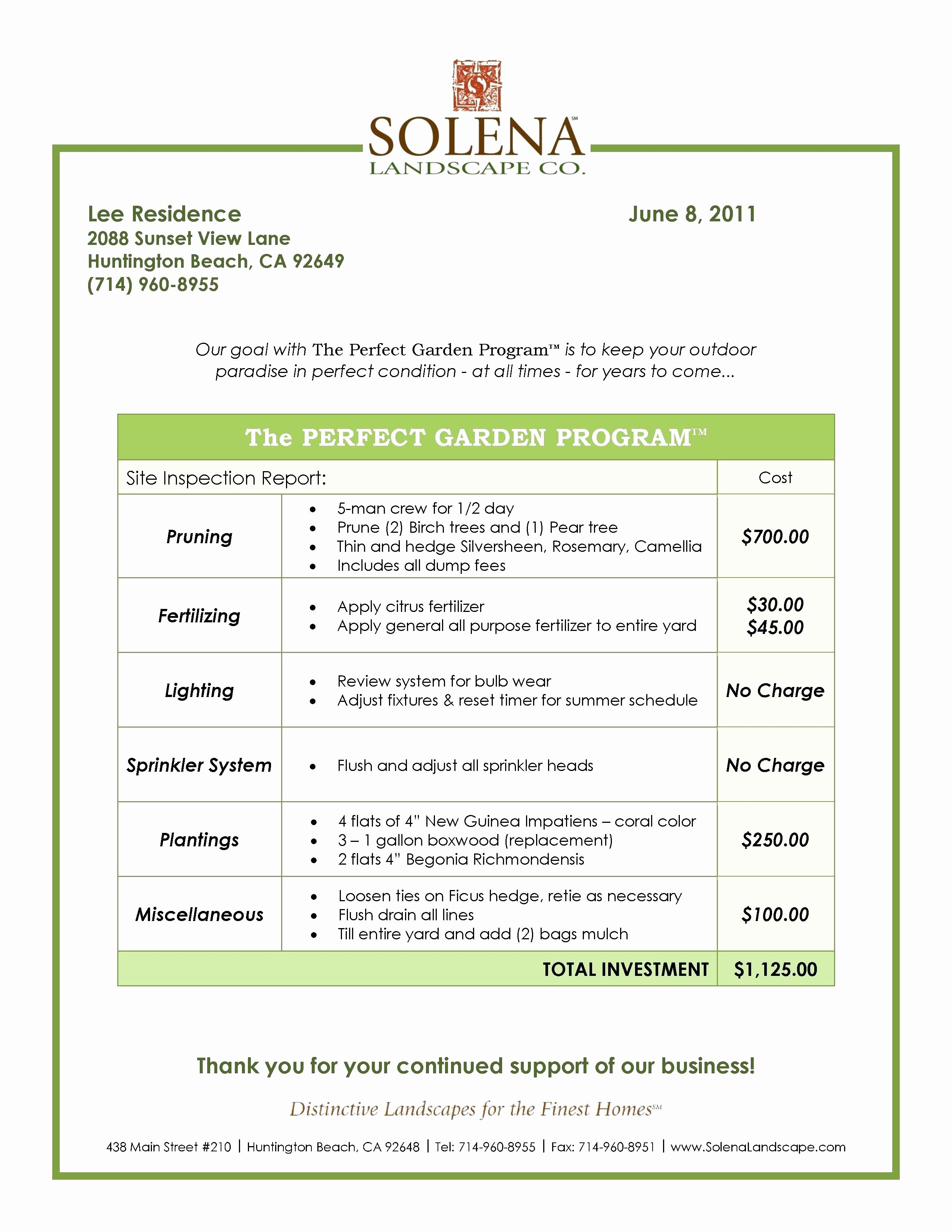 Landscaping Scope Of Work Template Inspirational Landscaping Scope Work Template