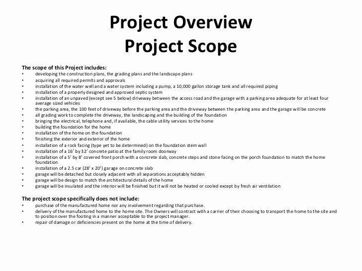 Landscaping Scope Of Work Template Lovely Construction Project Management Class Project Presentation
