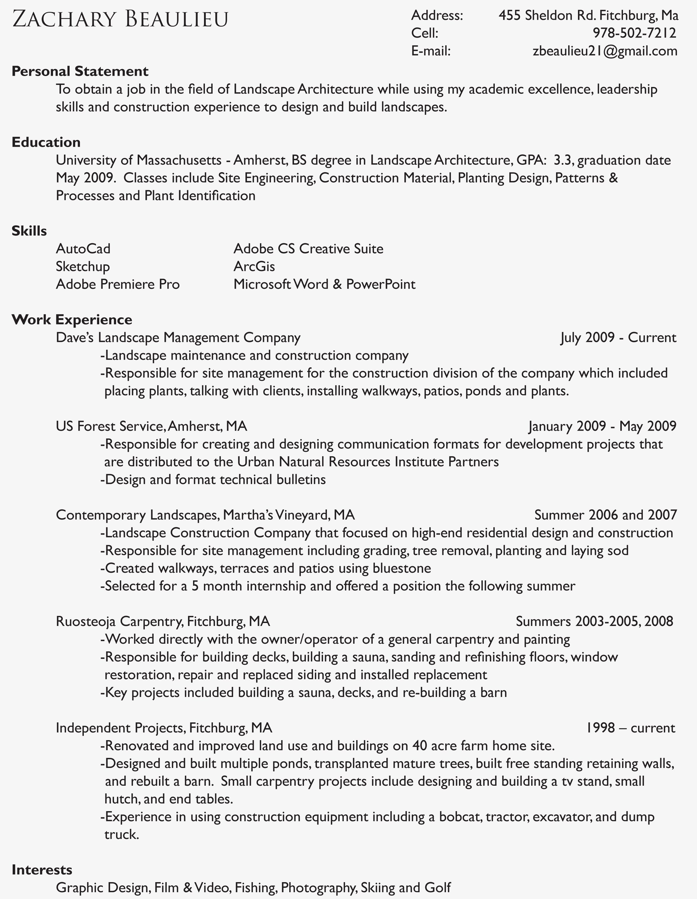 Landscaping Scope Of Work Template Lovely Guide and How to Do Landscaping Resumes