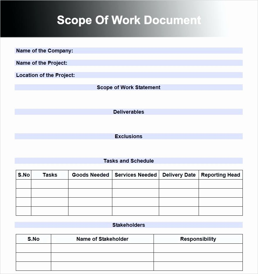Landscaping Scope Of Work Template Unique Job Pletion form Gecce Tackletarts