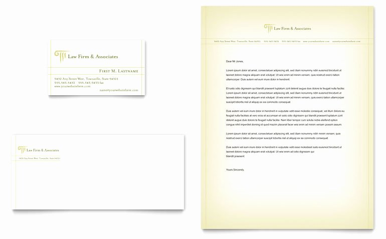 Law Firm Letterhead Template Awesome attorney & Legal Services Business Card & Letterhead