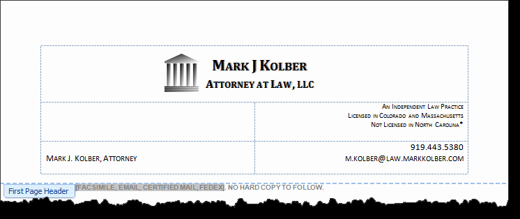 Law Firm Letterhead Template Awesome Diy Law Firm Letterhead Using Microsoft Word Lawyerist