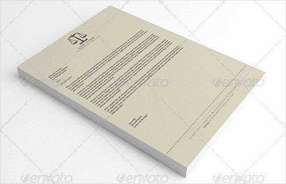 Law Firm Letterhead Template Beautiful 14 Law Firm Letterhead Template Free Psd Eps Ai