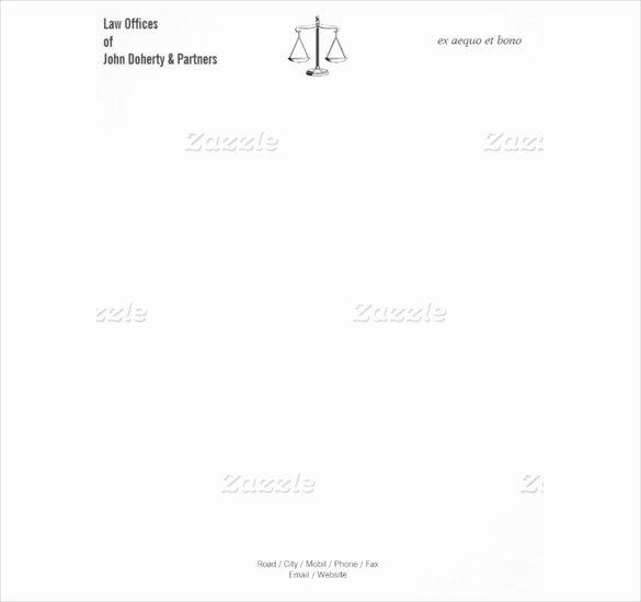 Law Firm Letterhead Template Best Of 8 attorney Letterhead Templates