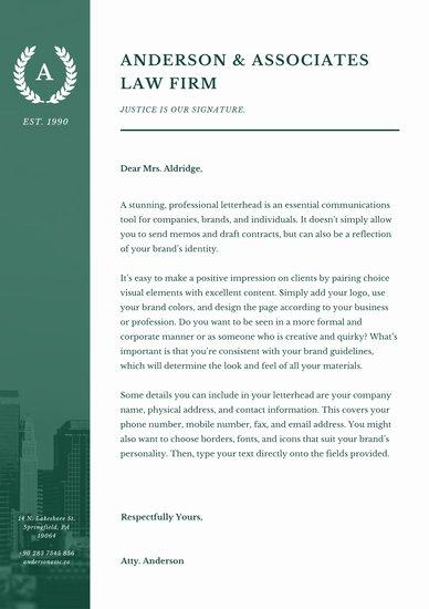 Law Firm Letterhead Template Elegant Customize 178 Business Letterhead Templates Online Page