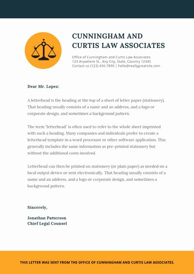 Law Firm Letterhead Template Inspirational Customize 30 Law Firm Letterhead Templates Online Canva