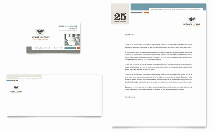 Law Firm Letterhead Template Lovely Family Law attorneys Business Card & Letterhead Template