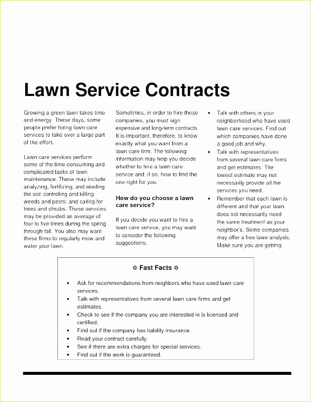 Lawn Care Bid Proposal Template Awesome Landscaping Contract Template Nsw Sample Painting