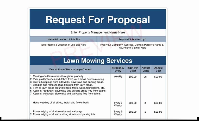 Lawn Care Bid Proposal Template Fresh Lawn Service Proposal Sample Best Lawn Care Bid