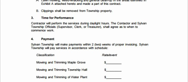 Lawn Care Bid Proposal Template New Free Lawn Care Proposal Template