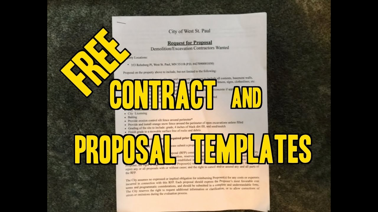 Lawn Care Bid Proposal Template New Free Sample Contracts & Project Proposals Landscaping