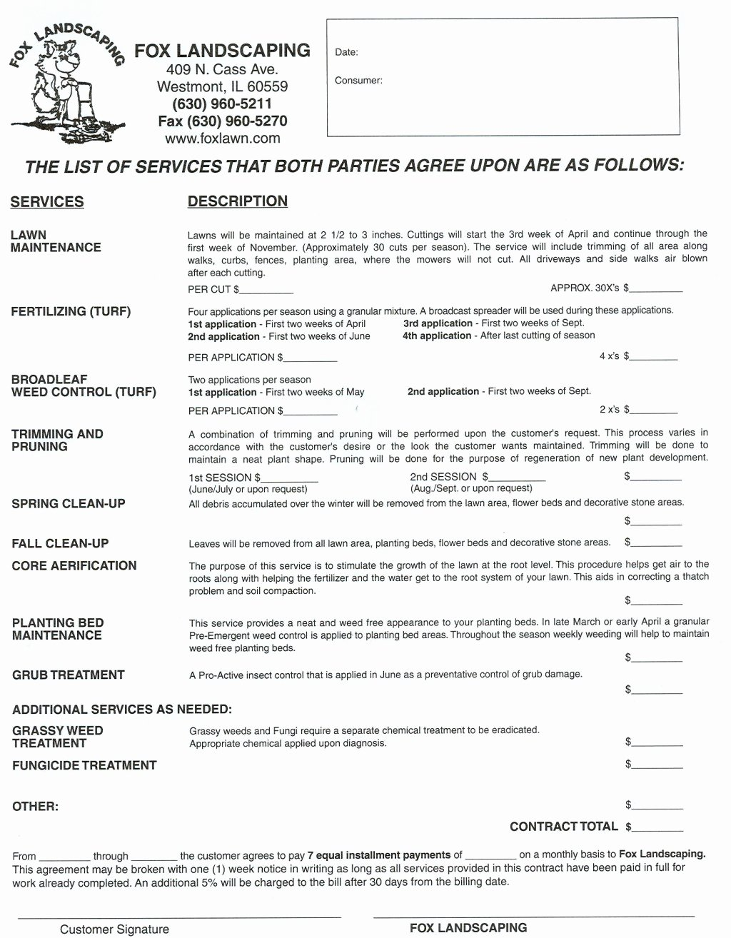 Lawn Care Contract Template Free Luxury Landscaping Contracts Landscaping Contracts Landscape