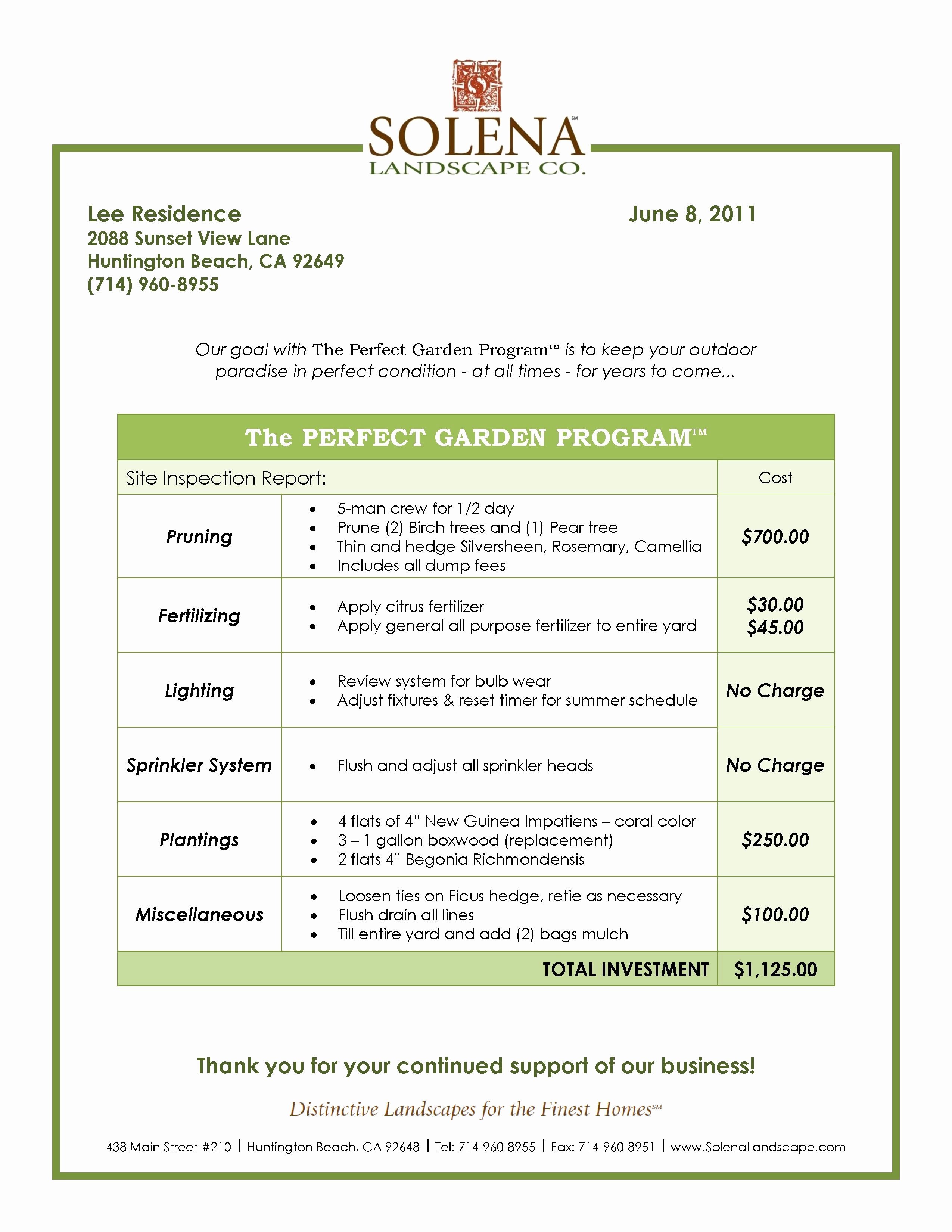 Lawn Care Contract Template New Best Landscaping Contract Agreement Samples and Landscape