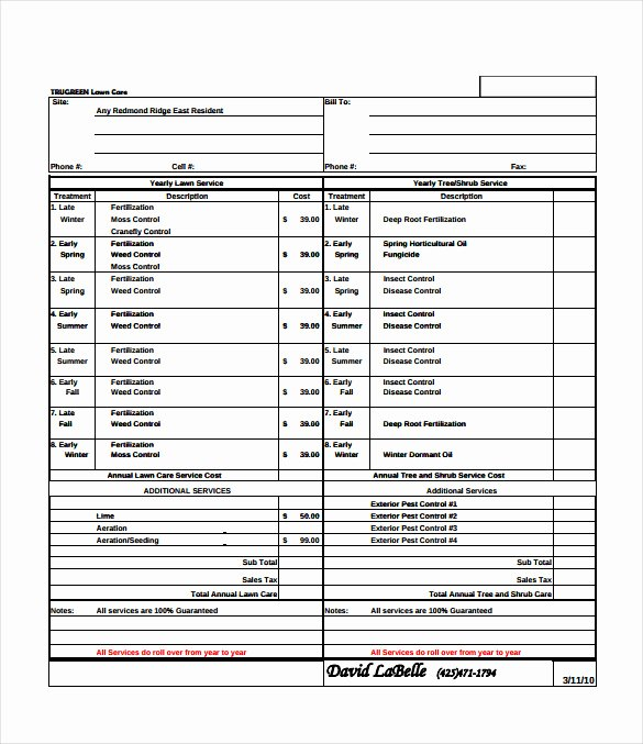 Lawn Care Estimate Template New Bid Sheet Template 14 Free Sample Example format