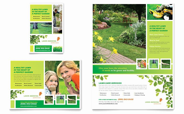Lawn Care Flyer Template Awesome Lawn Mowing Service Flyer & Ad Template Word & Publisher