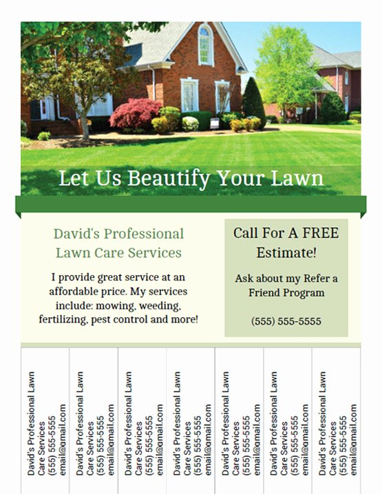 Lawn Care Flyer Template Awesome Printable Lawn Care Business Flyer Templates