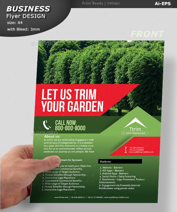 Lawn Care Flyer Template Best Of 29 Lawn Care Flyers Psd Ai Vector Eps
