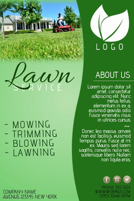 Lawn Care Flyer Template Best Of Lawn Service Pany Flyer Template