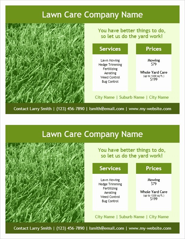 Lawn Care Flyer Template Elegant Lawn Care Flyers Templates Icebergcoworking