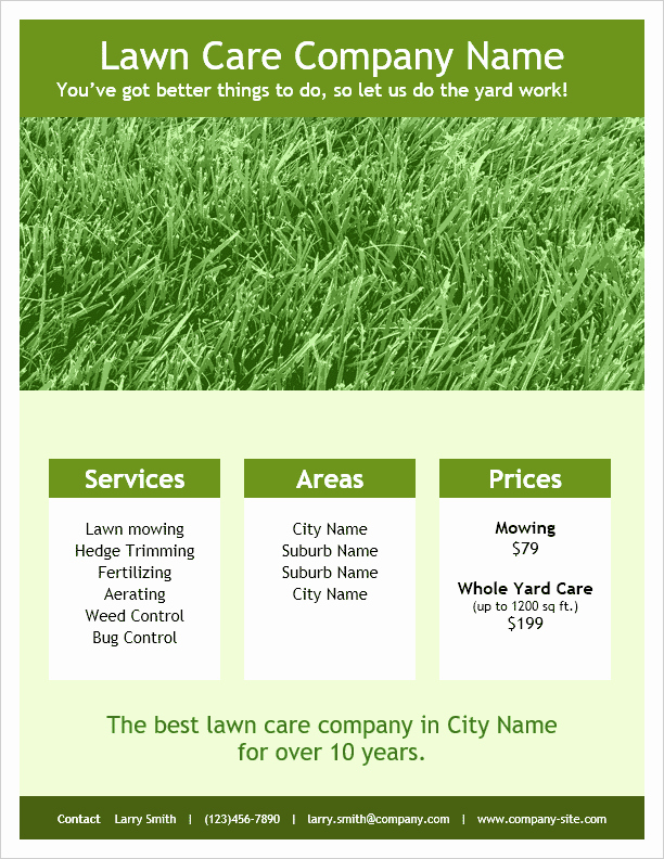 Lawn Care Flyer Template Fresh Lawn Care Flyer Template for Word