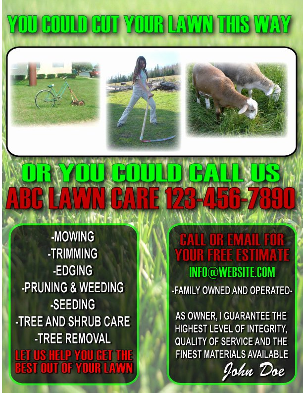Lawn Care Flyer Template Inspirational 9 Best Of Lawn Maintenance Flyers Lawn Care Flyer