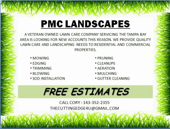 Lawn Care Flyer Template Lovely Landscaping Flyer Template Powerpoint