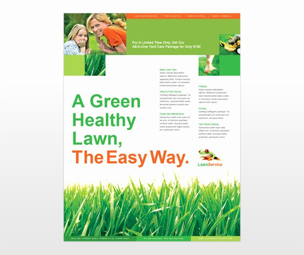 Lawn Care Flyer Template Lovely Lawn Care Flyer Template