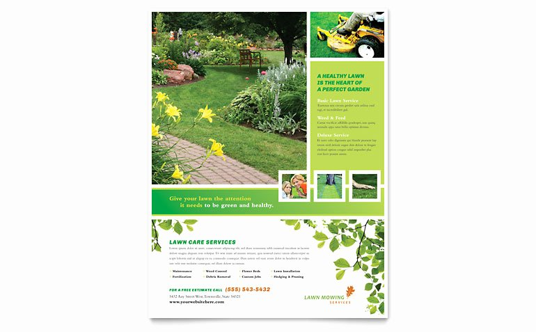Lawn Care Flyer Template Lovely Lawn Mowing Service Flyer Template Word & Publisher
