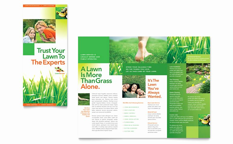 Lawn Care Flyer Template Luxury Lawn Maintenance Tri Fold Brochure Template Word & Publisher