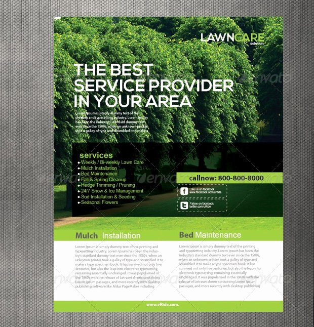 Lawn Care Flyer Template New 15 Lawn Care Flyer Templates Printable Psd Ai Vector