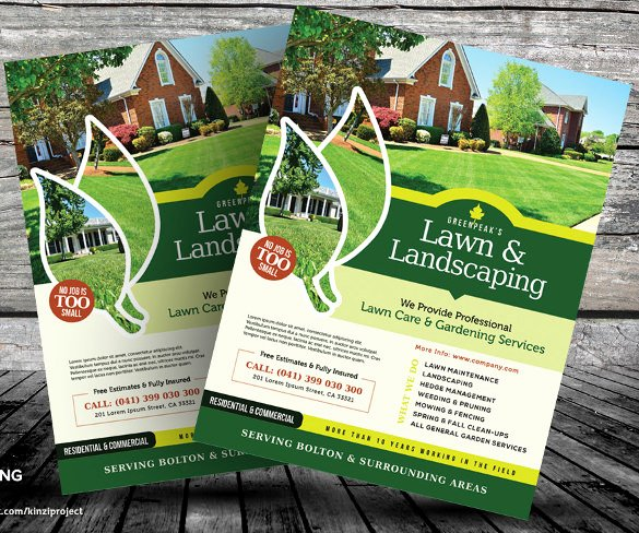 Lawn Care Flyer Template New 29 Lawn Care Flyers Psd Ai Vector Eps