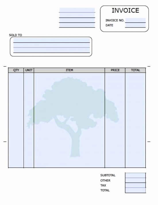Lawn Care Invoice Template Awesome Invoice Template for Lawn Services How to Leave Invoice