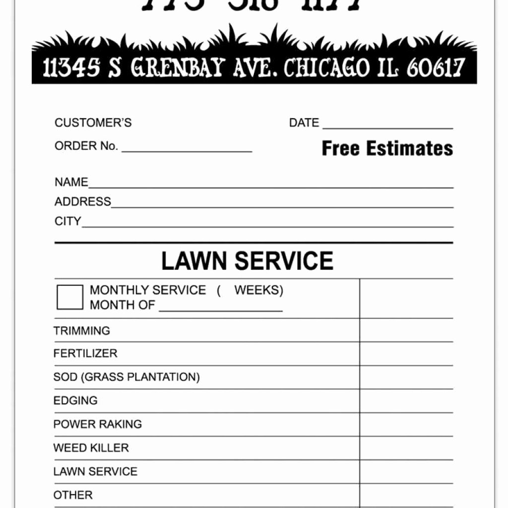 Lawn Care Invoice Template Inspirational Landscaping Invoice Template Word
